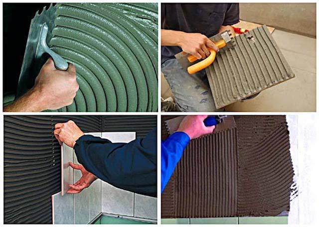 Виды плиточного клея для различных отделочных работ