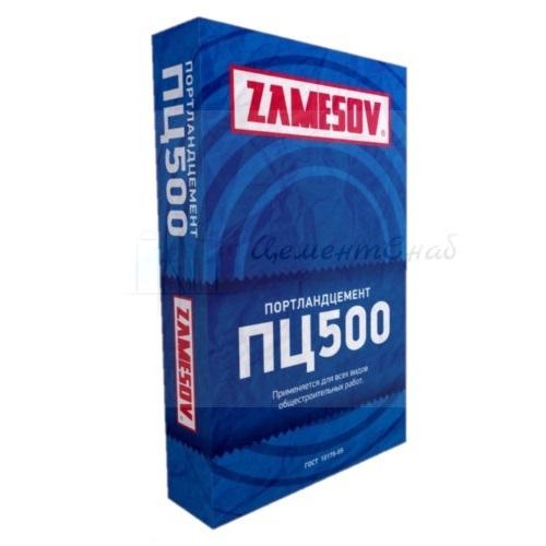 Цемент ZAMESOV  м500  д 0 мешок 50кг