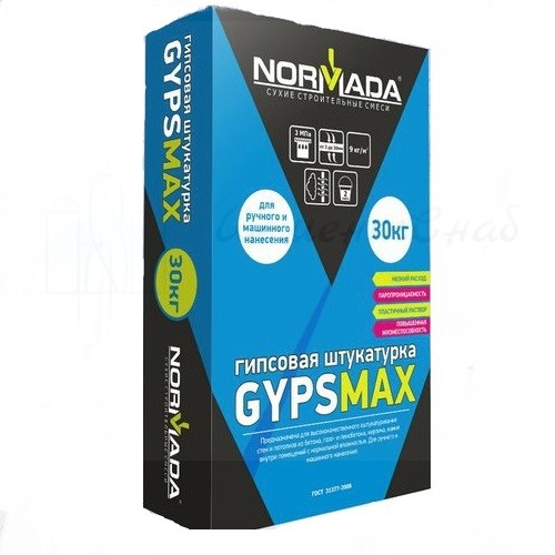 Штукатурка гипсовая Normada GypsMax